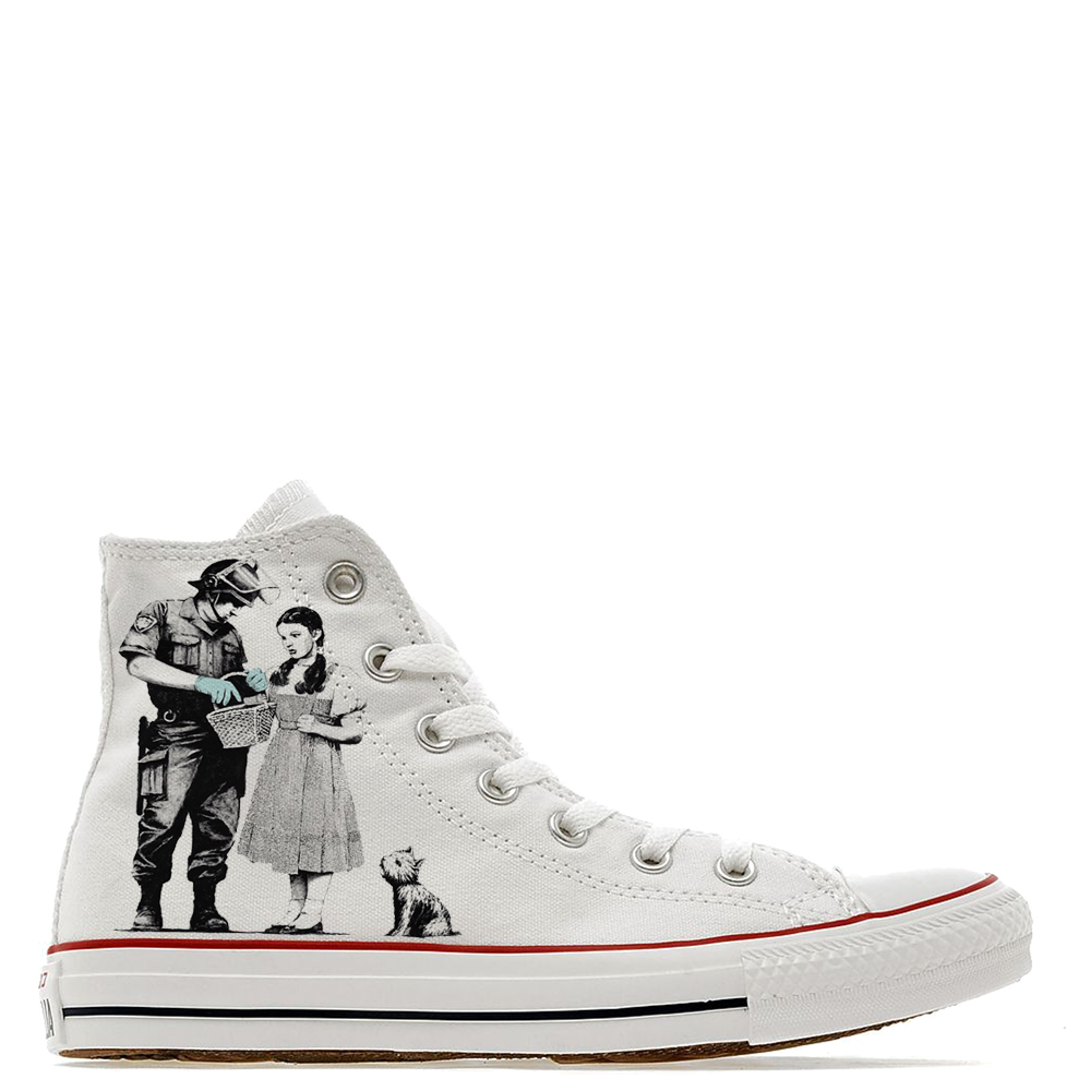 c962479d1eec Banksy Oz Custom High Top Converse - Shoe2Kill